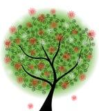 Abstrakter Sommerbaum stock abbildung