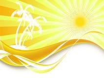 Abstrakter Sommerhintergrund Stockbild