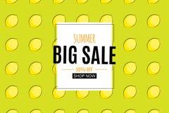 Abstrakter Sommerschlussverkauf-Hintergrund mit Zitrone Auch im corel abgehobenen Betrag Stockbilder