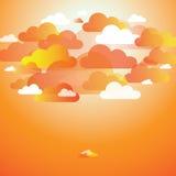 Abstrakter Sommerwolkenhintergrund vektor abbildung