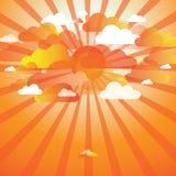 Abstrakter Sommerwolkenhintergrund stock abbildung
