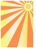 Abstrakter Sonnehintergrund vektor abbildung