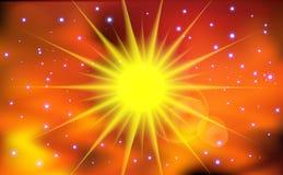 Abstrakter Sonneleuchtehintergrund. Lizenzfreies Stockfoto