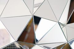 Abstrakter Spiegel Nahaufnahme stockbild