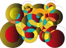 Abstrakter spiralförmiger Hintergrund Stockbild