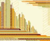 Abstrakter städtischer Hintergrund. Stockfotos