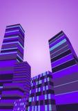Abstrakter Stadt-Nacht-Hintergrund-Vektor Stockbild