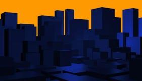 Abstrakter Stadtbildhintergrund Lizenzfreie Stockfotografie