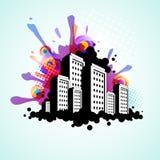 Abstrakter Stadthintergrund Lizenzfreie Stockfotos