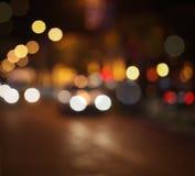 Abstrakter Stadtlichtunschärfeblinkenhintergrund Lizenzfreies Stockfoto