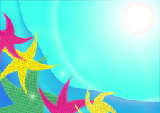Abstrakter Starfishhintergrund Vektor Abbildung