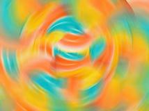 Abstrakter Steigungsbewegungsunschärfehintergrund mit weicher Pastellfarbe tont, grünt, Blau, Orange, Gelb, Rosa Stockfotografie