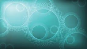 Abstrakter Steigungshintergrund mit rundem Muster Türkisfarbe, Kreis von wiederholten Quadraten Lizenzfreies Stockfoto