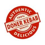 Abstrakter Stempel mit dem Text authentisch, köstlicher Doner-Kebab vektor abbildung