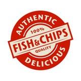 Abstrakter Stempel oder Aufkleber mit dem Text authentisch, köstlicher Fisch stock abbildung
