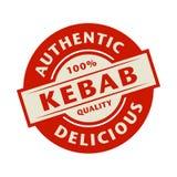 Abstrakter Stempel oder Aufkleber mit dem Text authentisch, köstlicher Kebab lizenzfreie abbildung