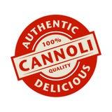 Abstrakter Stempel oder Aufkleber mit dem Text authentisch, köstliches Canno lizenzfreie abbildung