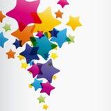 Abstrakter Stern-Hintergrund Stockbild