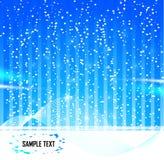 Abstrakter Stern-Schnee-Hintergrund Stockfoto