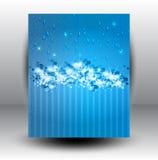 Abstrakter Stern-Schnee-Hintergrund Lizenzfreie Stockfotos