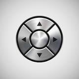 Abstrakter Steuerknüppel-Knopf mit Metallbeschaffenheit Stockfoto