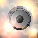 Abstrakter stichhaltiger Lautsprecher Stockbild