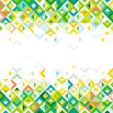 Abstrakter Streifen des geometrischen Musterdesigns der bunten Mosaikmischung an unten und des Oberteils und des Raumes für Text  Lizenzfreies Stockfoto