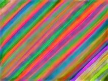 Abstrakter Streifenaquarellhintergrund stockbild