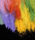 Abstrakter strukturierter Acryl- und Ölpastell malte Hintergrund Stockfoto