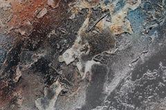 Abstrakter strukturierter Hintergrund - grungy Metallabschluß oben Lizenzfreies Stockfoto