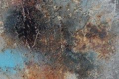 Abstrakter strukturierter Hintergrund - grungy Metallabschluß oben Stockfotografie
