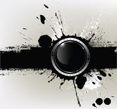 Abstrakter strukturierter Hintergrund mit a mit rundem glo Lizenzfreie Stockfotografie