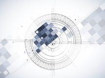 Abstrakter Strukturstromkreiscomputer Stockbild