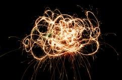 Abstrakter Swirly-Funken Stockfotografie