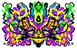 Abstrakter symmetrischer malender Rorschach-Testtintenkleks Stockfoto