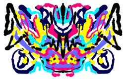Abstrakter symmetrischer malender Rorschach-Testtintenkleks Lizenzfreie Stockfotografie