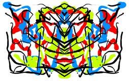 Abstrakter symmetrischer malender Rorschach-Testtintenkleks Stockbild
