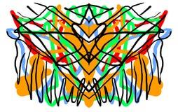 Abstrakter symmetrischer malender Rorschach-Testtintenkleks Lizenzfreies Stockfoto