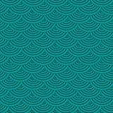 Abstrakter Türkishintergrund mit einfachen Formen Moderne Illustration für Konzeptdesign lizenzfreie abbildung