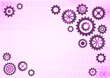 Abstrakter technischer Hintergrund mit Gängen Lizenzfreies Stockbild