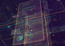Abstrakter techno Hintergrund Lizenzfreie Stockfotos