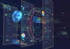 Abstrakter techno Hintergrund Stockfoto