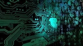 Abstrakter Technologie-Hintergrund stock abbildung