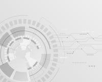Abstrakter Technologie-Hintergrund Auch im corel abgehobenen Betrag Lizenzfreies Stockfoto
