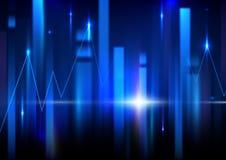 Abstrakter Technologie-Hintergrund Börsehintergrund Lizenzfreies Stockfoto