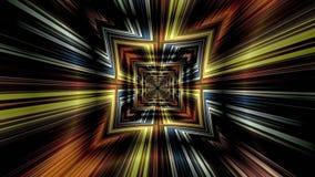 Abstrakter Technologie-Hintergrund, Computer-Animation, Cyberspace-Kabel Lizenzfreies Stockbild