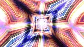 Abstrakter Technologie-Hintergrund, Computer-Animation, Cyberspace-Kabel Lizenzfreie Stockfotos