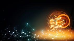 Abstrakter Technologie-Hintergrund Computererzeugter abstrakter Hintergrund Lizenzfreie Stockfotografie