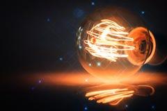 Abstrakter Technologie-Hintergrund Computererzeugter abstrakter Hintergrund Stockbild