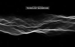 Abstrakter Technologie-Hintergrund Gitter des Hintergrundes 3d Cybertechnologie Ai-Technologiedraht-Netz futuristisches wireframe Lizenzfreies Stockbild
